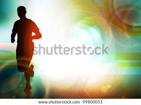 Runner illustration - stock photo