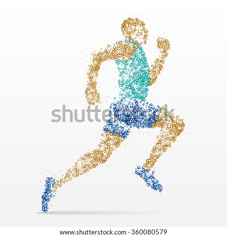 runner, marathon, athletics, competition - stock photo