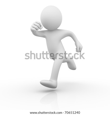 Runner / Running man - stock photo