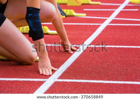 runner with arm injury