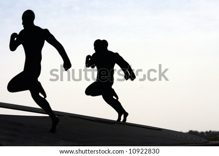runners - stock photo