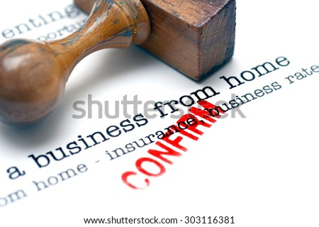 Running a business from home - stock photo
