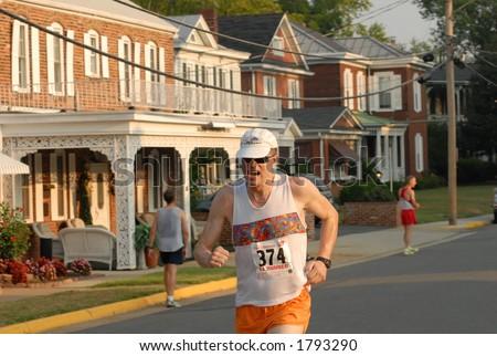 Running a race - stock photo