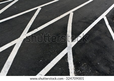 Running asphalt track with white painted lines. Sports - stock photo