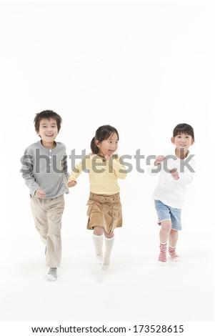 Running children - stock photo