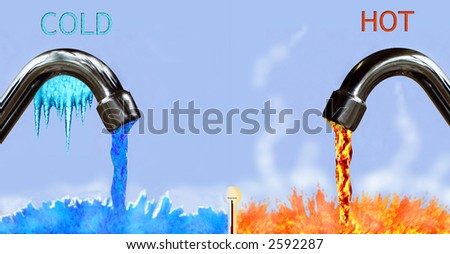 Running cold and hot - stock photo