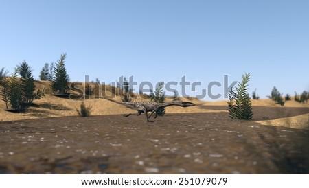 running colelophysis - stock photo