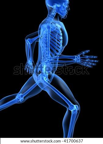 running man - stock photo