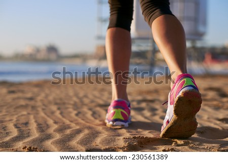 running on the beach shoe - stock photo