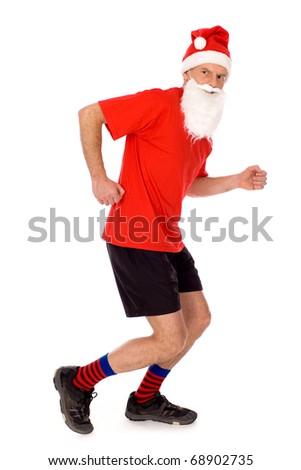 Running Santa - stock photo