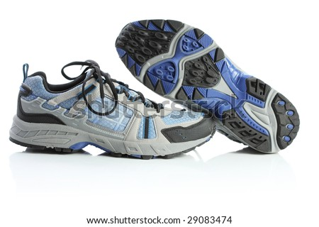 Running shoes, isolated on white