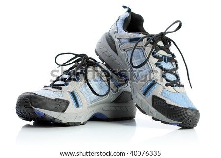 Running shoes, isolated on white - stock photo