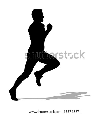 Running silhouettes.  illustration.