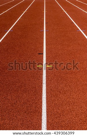 Running surface of a red track