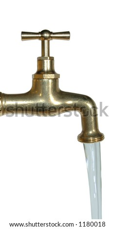 running tap - stock photo