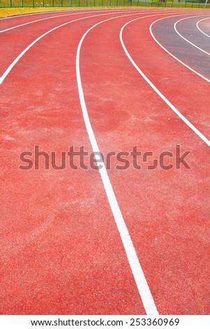 Running track - stock photo