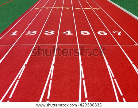running track at the stadium with artificial turf