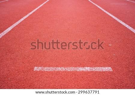 Running Track, Athletics Track Lane - stock photo