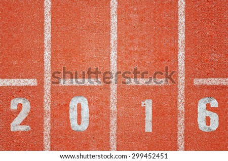 Running track design for year 2016