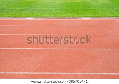 Running track ,focus on first track