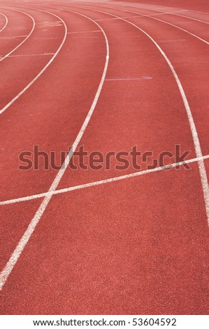 running track for race, for concept or background.