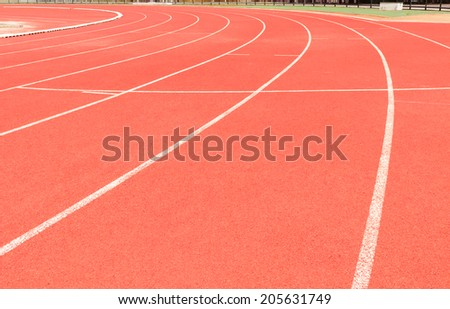 running track line curve