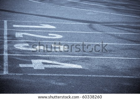 running track lines - stock photo