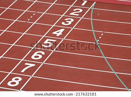 Running track numbers - stock photo