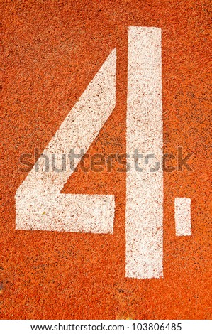 Running track numbers in Stadium.