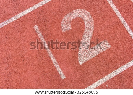 Running track numbers two