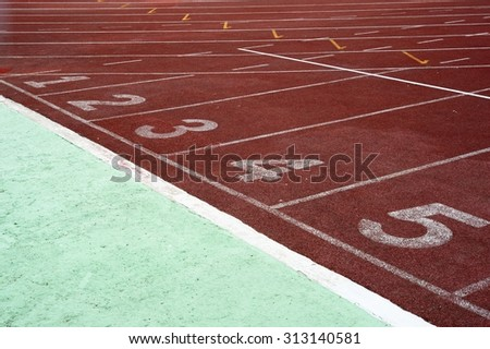 Running track on the stadium / Running track