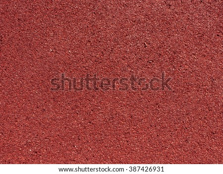 Running track red ground rubber cover. Sport and leisure.