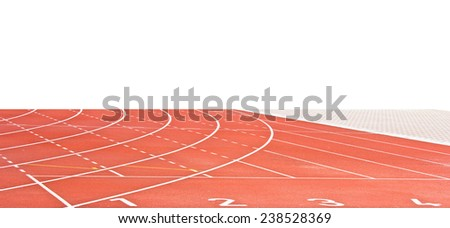 Running track rubber standard red color - stock photo