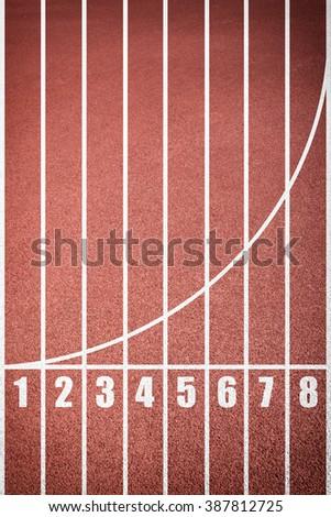 Running track texture - stock photo