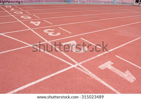 Running track with number