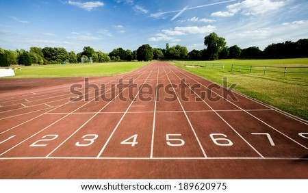 Running track with numbers