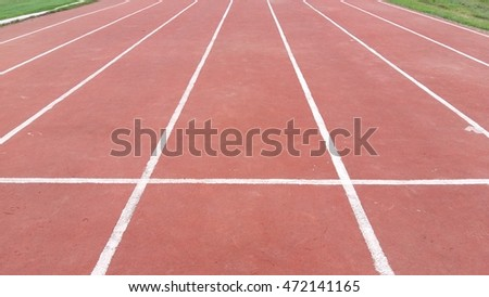 Running track with the grass