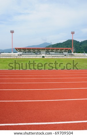 Running tracks in a arena - stock photo