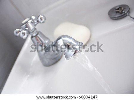 Running water - stock photo