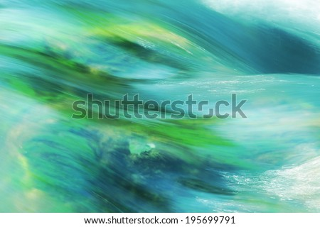 running water, turquoise, german mountain brook - stock photo