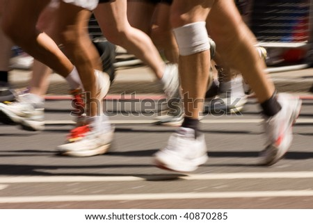 Running with injury - stock photo