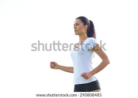 running woman - stock photo