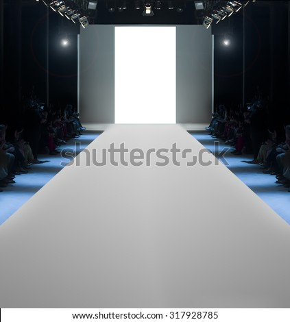Runway before a fashion show - stock photo