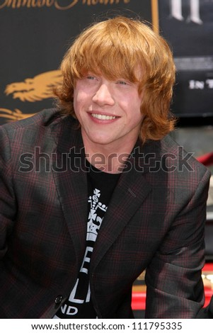 """Rupert Grint at the Hand, Foot and Wand Print Ceremony Honoring The Cast of """"Harry Potter"""". Grauman's Chinese Theater, Hollywood, CA. 07-09-07 - stock photo"""