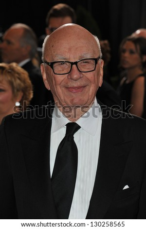 Rupert Murdoch at the 85th Academy Awards at the Dolby Theatre, Hollywood. February 24, 2013  Los Angeles, CA Picture: Paul Smith - stock photo