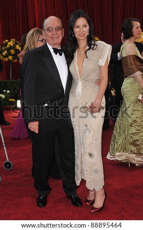 Rupert Murdoch & Wendi Deng at the 82nd Annual Academy Awards at the Kodak Theatre, Hollywood. March 7, 2010  Los Angeles, CA Picture: Paul Smith / Featureflash