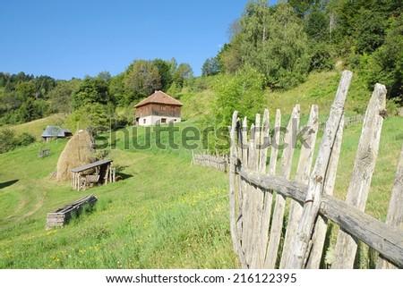 rural area in Kamena Gora, Serbia     - stock photo