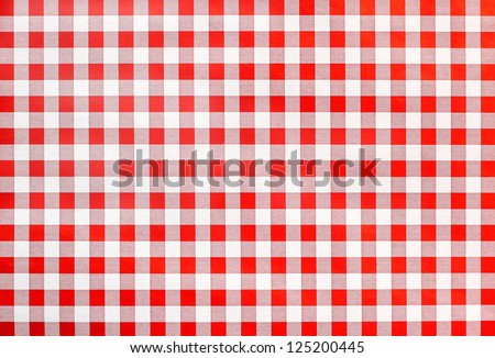 rural bavarian table cloth, red and white checkered, background design - stock photo