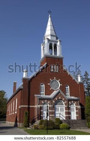 Rural brick Church - stock photo