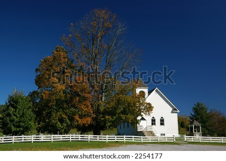 Rural Church - stock photo